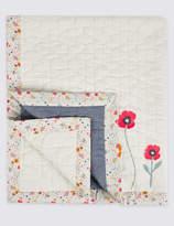 Marks and Spencer Floral Applique Coverlet