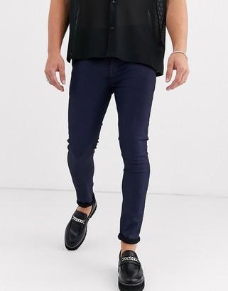 Asos Design DESIGN super skinny coated smart jeans in blue