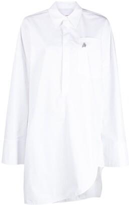 ATTICO Asymmetric Cotton Shirt Dress