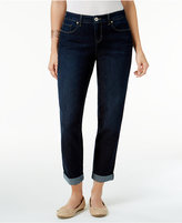 Style&Co. Style & Co. Curvy-Fit Caneel Wash Cuffed Boyfriend Jeans, Only at Macy's