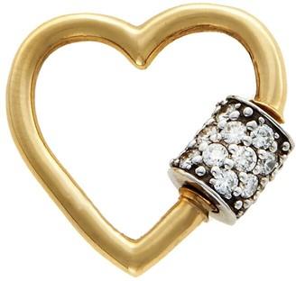 Marla Aaron Diamond Baby Heart Lock - Yellow Gold