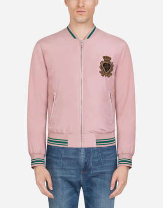 Dolce & Gabbana Nylon Jacket With Patch