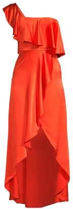 Alexis Ruffled Silk High-Low Dress