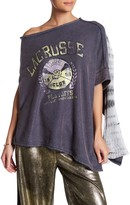 Free People Off Side Tie Dye Panel Pullover