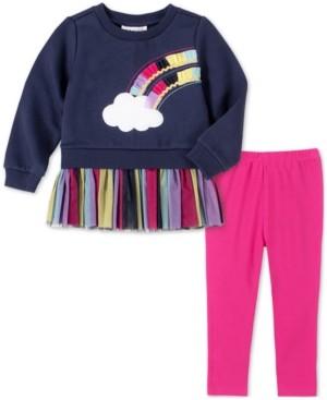 Kids Headquarters Baby Girls 2-Pc. Rainbow Tunic & Leggings Set