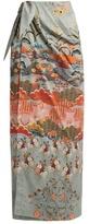 Stella Jean Odiosa Japanese-floral print maxi skirt
