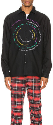 Pleasures Reality Embroidered Button Down
