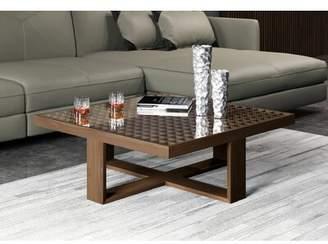 Modloft Black Leyton Coffee Table with Tray Top Black