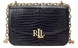 Lauren Ralph Lauren Embossed Leather Crossbody Bag