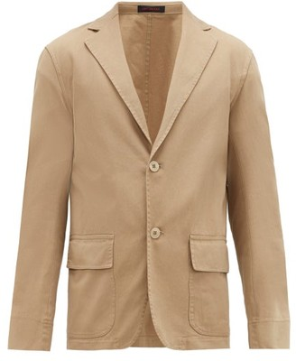 BEIGE The Gigi - Patch-pocket Cotton-gabardine Sports Jacket - Mens