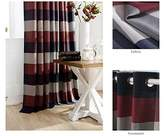 """Chezmoi Collection Payton Traditional Plaid Grommet Top Window Curtain Panel (52""""W x 63""""L"""