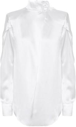 Matã©Riel Tbilisi Silk-satin blouse