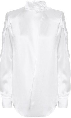 Matériel Tbilisi Silk-satin blouse