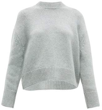 Brock Collection Cropped Round Neck Cashmere Sweater - Womens - Grey