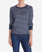 Eddie Bauer Women's Legend Wash Crewneck Sweatshirt - Stripe