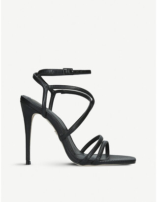 Kurt Geiger Alexis reptile-embosssed faux-leather sandals