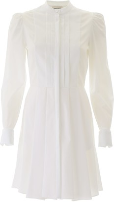 Alexander McQueen Mini Dress With Plastron