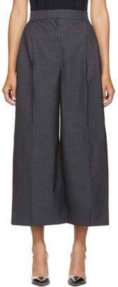 Alexander McQueen Grey Pinstripe Culotte Trousers