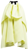 Roksanda Amira Draped Silk-blend Organza Blouse - Womens - Yellow