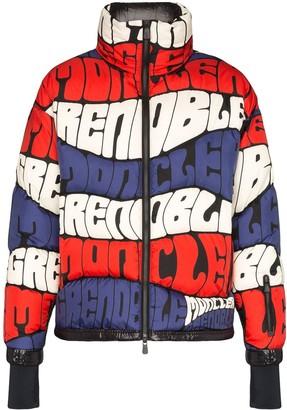 MONCLER GRENOBLE Logo Stripe Puffer Jacket