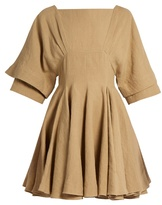 J.W.Anderson Square-neck linen dress