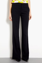 MSGM Crepe Wide Leg Trousers With Racer Stripe