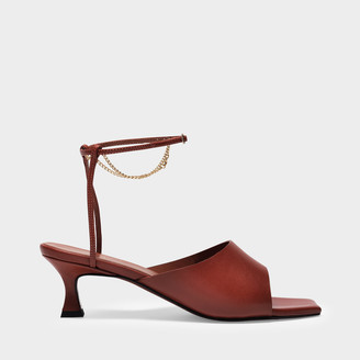 MANU Atelier Sandals Athena In Redbole Nappa Leather