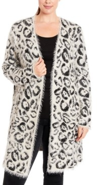 Joseph A Plus Size Textured Open-Front Cardigan