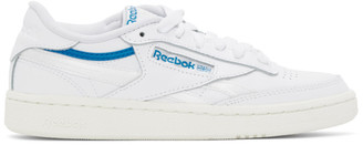 Reebok Classics White and Blue Club C 85 Sneakers