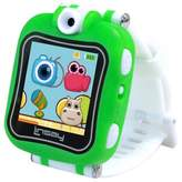 """LINSAY® 1.5"""" Kids Smartwatch 90 Degree Selfie Camera HD for Videos/Photos Learning Apps Green"""