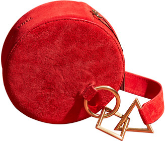 Tara Zadeh Red Suede Clutch bags