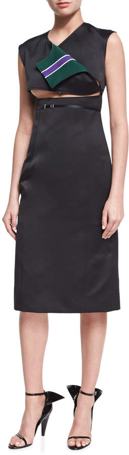 Calvin Klein Open-Front Sleeveless Sheath Dress
