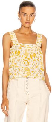 Natalie Martin Jasmine Top in Wildflower Saffron   FWRD