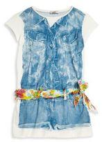 Junior Gaultier Toddler's & Little Girl's Gipsy 3D Trompe L'oeil Dress
