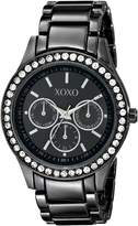 XOXO Women's Gun-metal Bracelet With Rhinestones Accent Watch XO5333