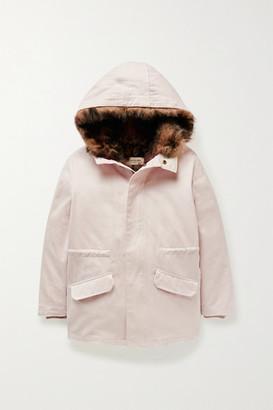 Yves Salomon Kids - Convertible Cotton-twill Parka - Pastel pink
