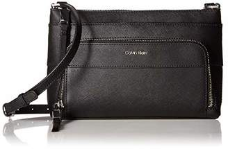 Calvin Klein Lily Saffiano Leather Top Zip Crossbody