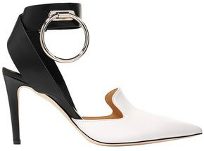 Monse Ring-embellished Two-tone Leather Pumps
