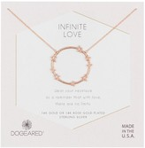 Dogeared 14K Rose Gold Plated Sterling Silver Infinite Love Full Circle Pendant Necklace
