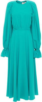 Roksanda Gathered Crepe Midi Dress