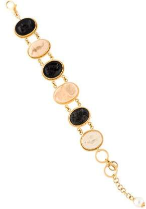 Tagliamonte Pearl & Resin Cameo Bracelet