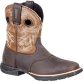 "Rocky RKW0220 Women's LT WP Saddle 8"" Western Boots, Dark Brown/Tobacco 9 M"
