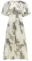 Giambattista Valli Square-print Silk-chiffon Midi Dress - Womens - Ivory Multi