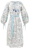 D'Ascoli Tuckahoe Floral-print Cotton Kaftan - Womens - Blue Print