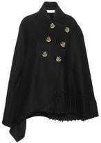 Victoria Beckham Tassel wool cape