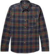 A.P.C. Slim-Fit Checked Wool-Blend Shirt