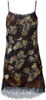 Etro lace trim floral dress