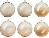 CB2 Luster Gold Ornaments Set Of Six
