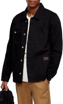 Topman Classic Fit Denim Chore Jacket