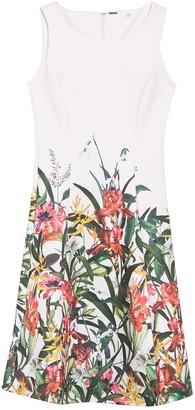 T Tahari Fit & Flare Floral Print Dress